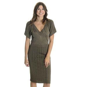 Banana Republic Knit V-Neck Short Sleeve Dress